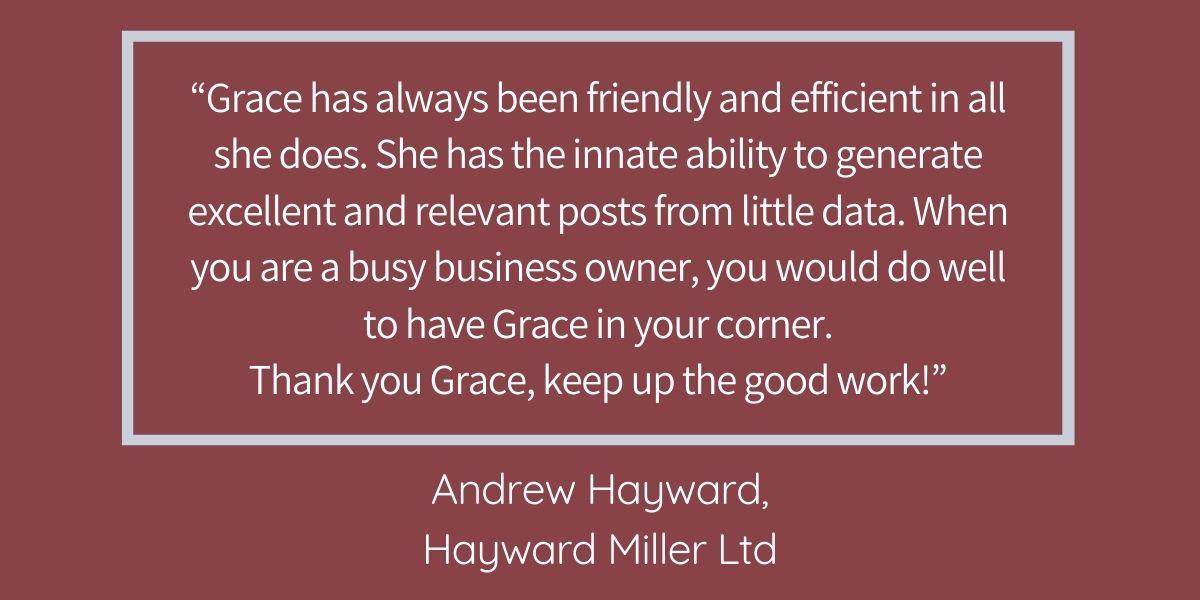 GSWG testimonial blog Hayward Miller