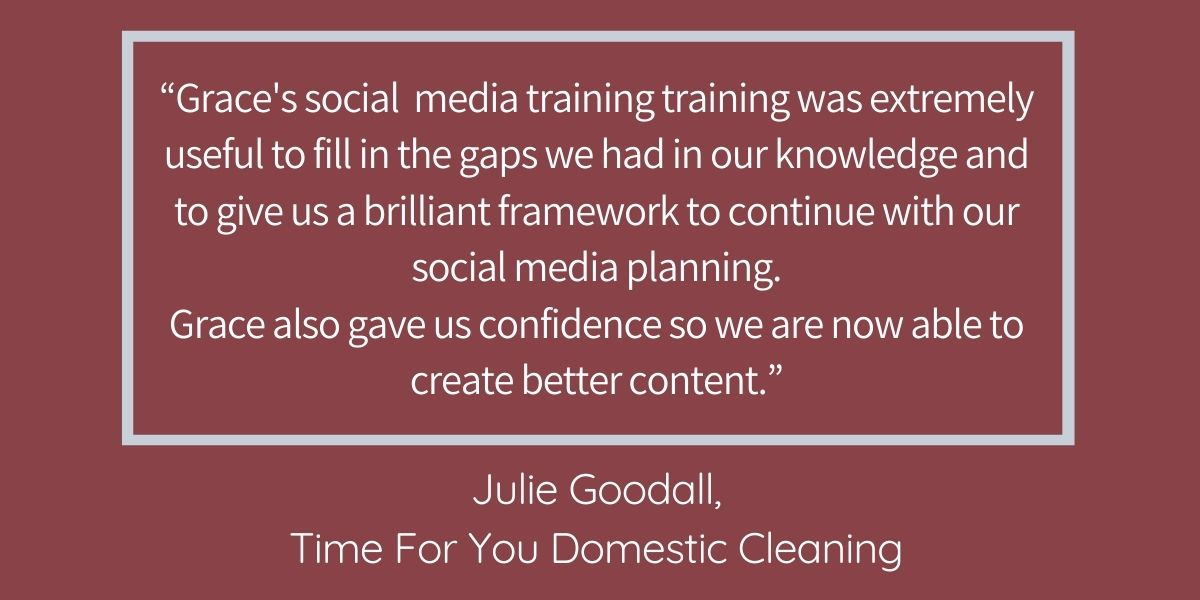 GSWG testimonial blog Time For You Domestic Cleaning